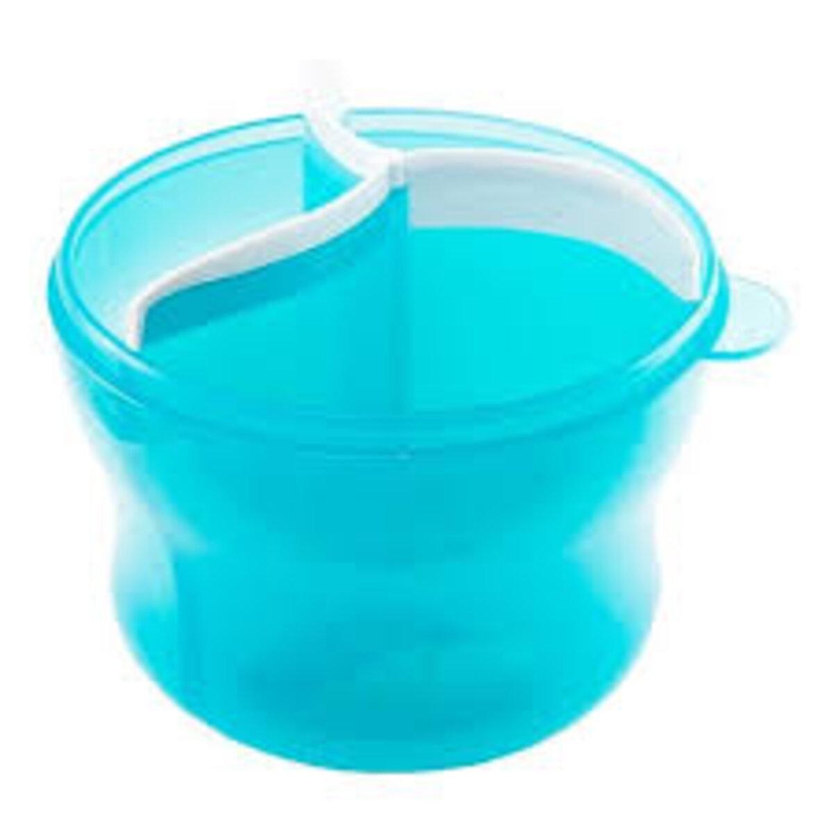 Dosador de Leite em Pó e Escova de Mamadeira Azul Munchkin