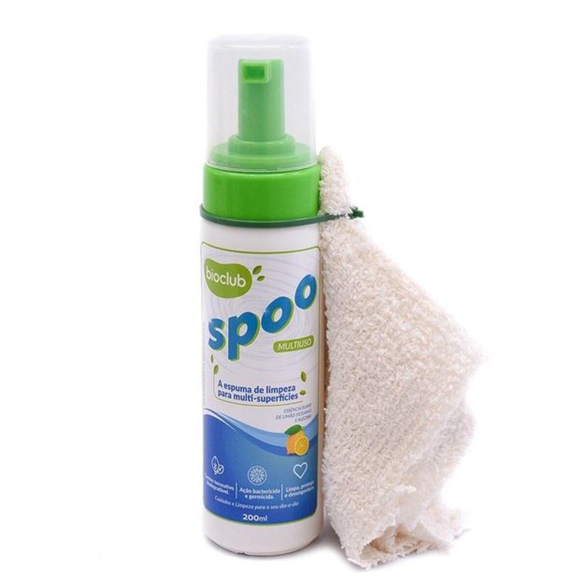 Espuma Limpeza Multiuso Spoo 200ml - Bioclub