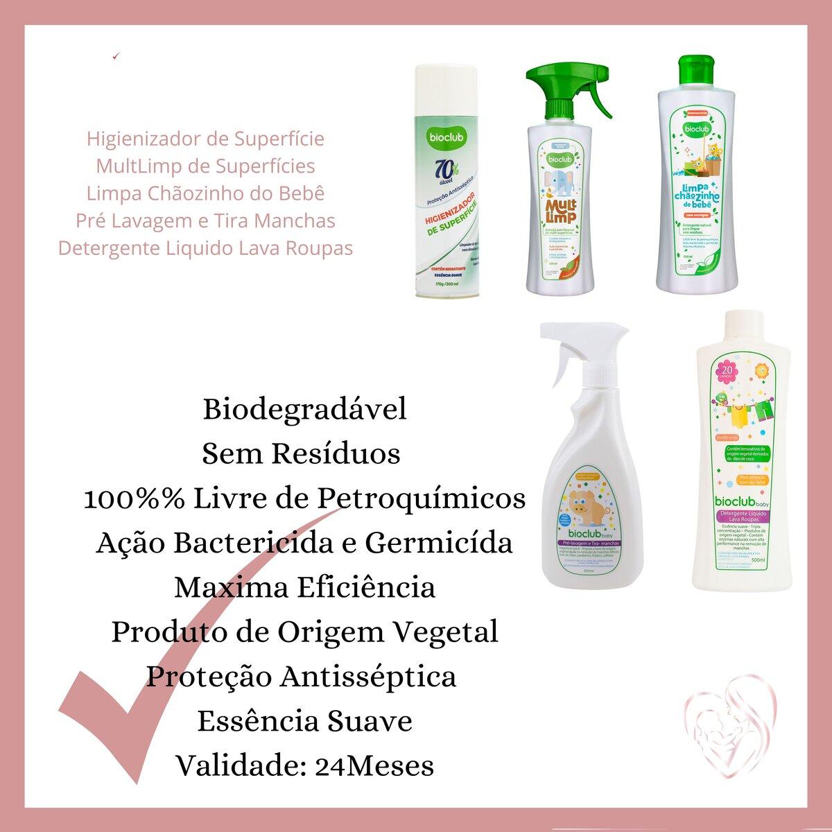 Higienizador de Roupas e Superfícies Aerosol BioClub 300 ml