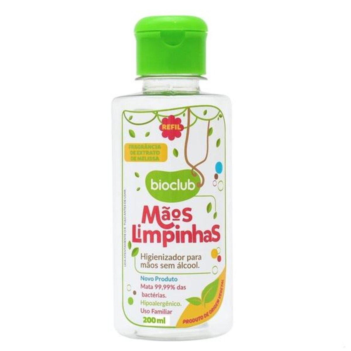Higienizador Mãos Limpinhas e Refil  Natural Bioclub 150ml