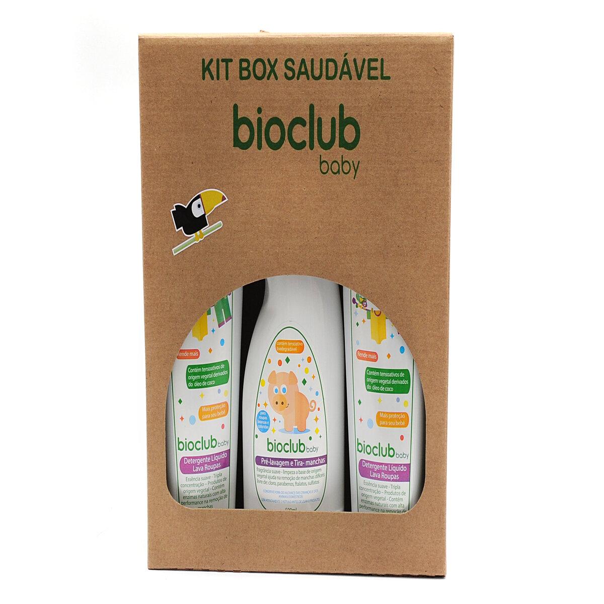 Kit Box Lava Roupas - Detergente Liquido Lava Roupas 500ml e Pré Lavagem/Tira Manchas 500ml