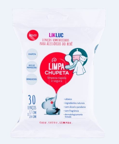 Kit Chupeta Ultra Soft Unit. Folhas 0-6M e Lenço Umedecido