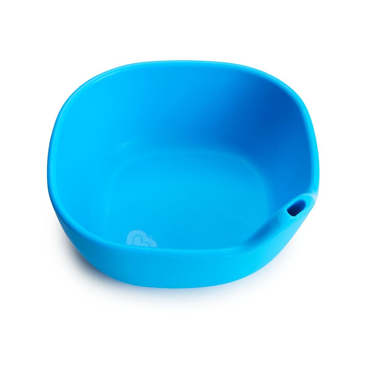 Kit Copo de Treinamento e Tigela de Silicone Azul