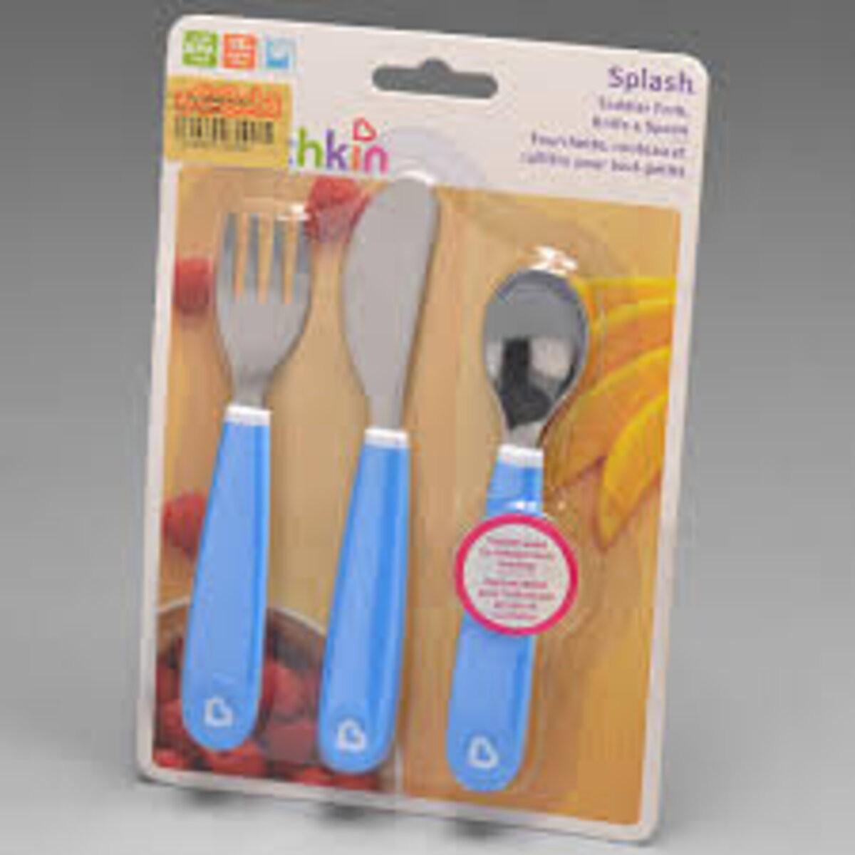 Kit de 3 Talheres Azul - Munchkin