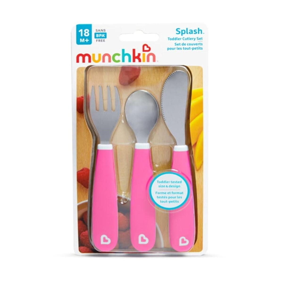 Kit de 3 Talheres Rosa - Munchkin