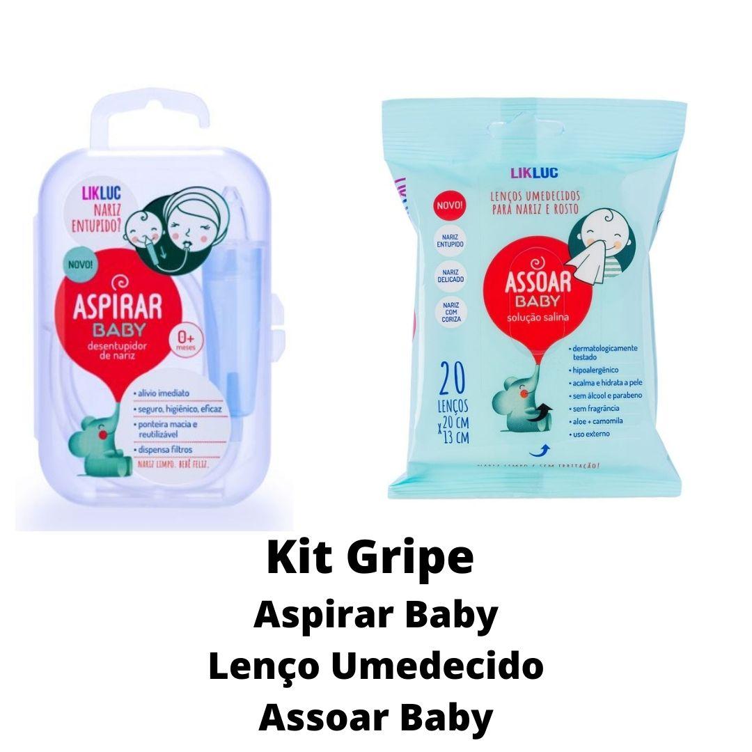 Kit Gripe AspirarBaby com estojo e LençoUmedecido AssoarBaby