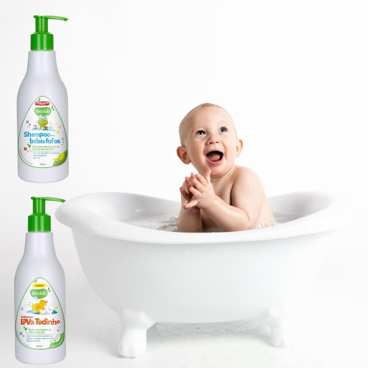 Kit Lava Tudinho Bebê Fofo Infantil Bio Club Organico