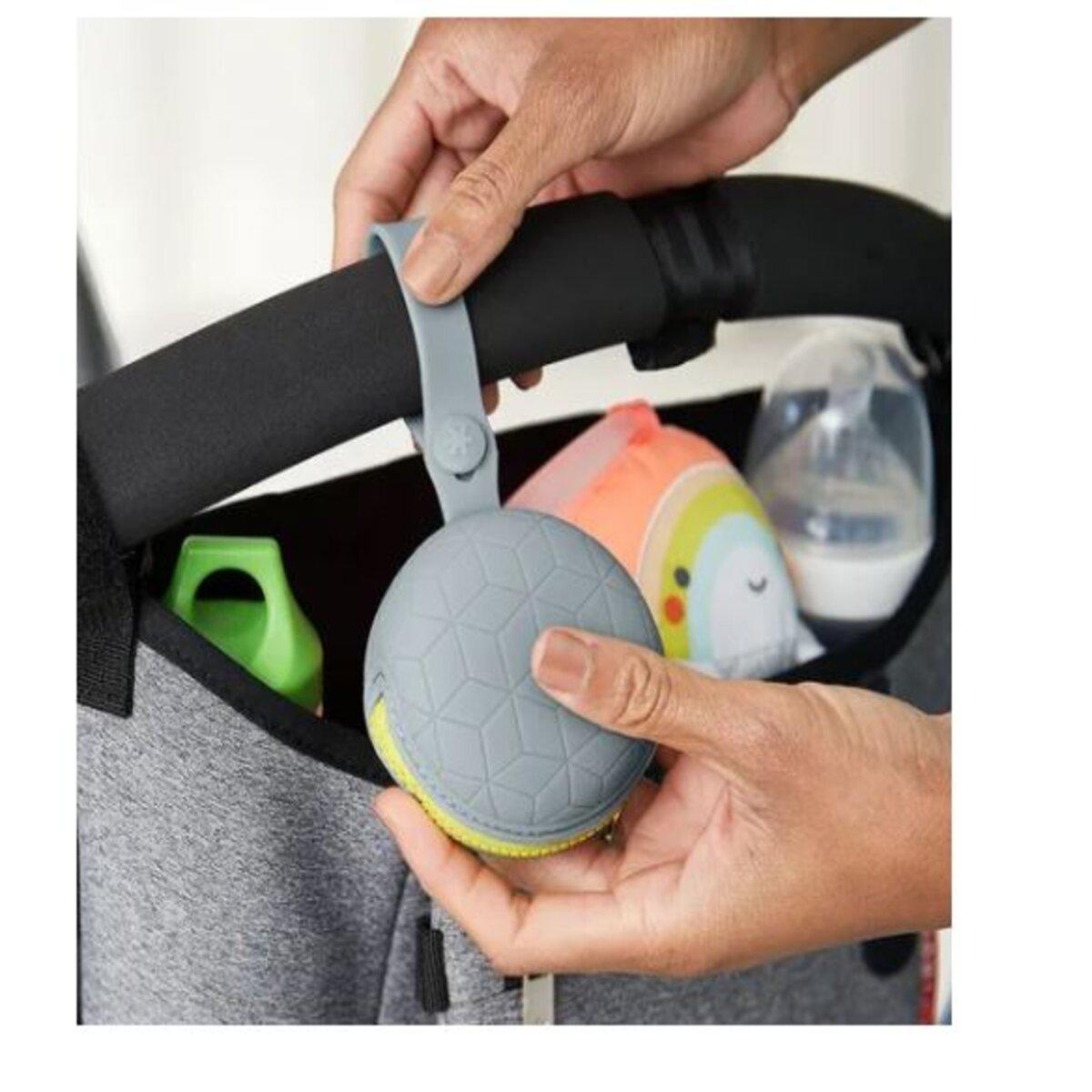 Kit Prendedor e Porta Chupeta Cinza com Ziper Silicone Clingo