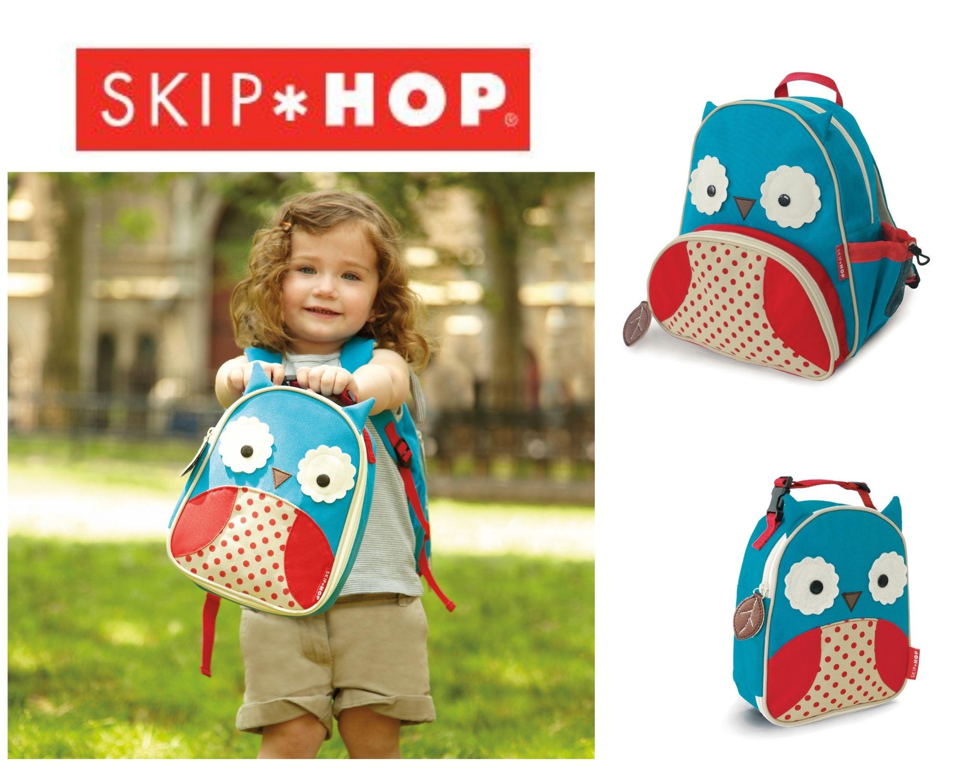 Kit Skip Hop Mochila e Lancheira Zoo Coruja Skip Hop