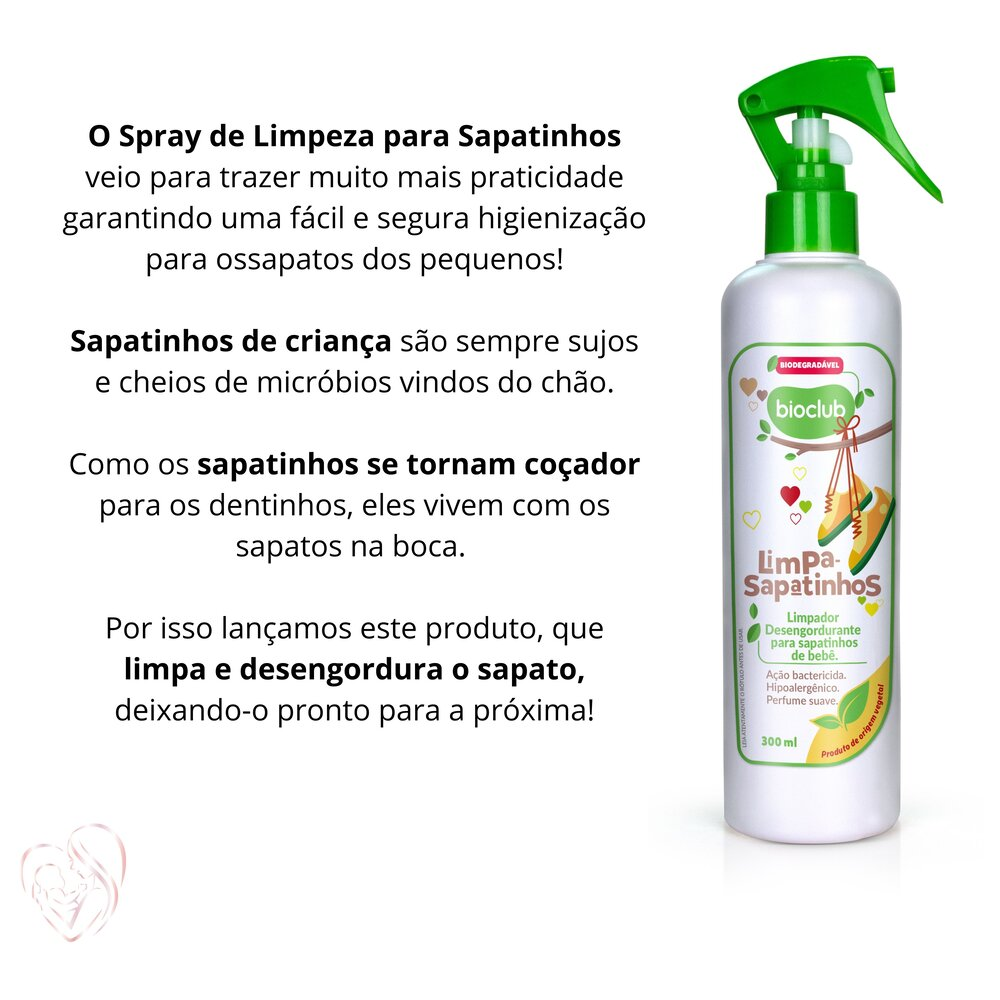 Limpeza de Sapatinhos Orgânico 300ml - BioClub