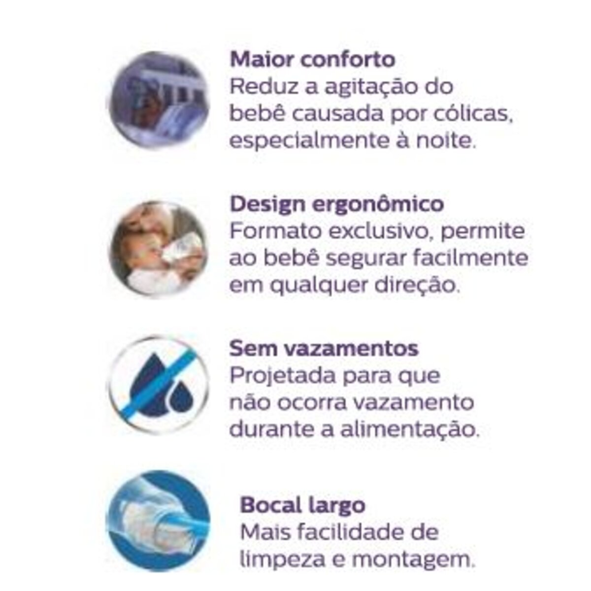 Mamadeira Philips Anti-Colic Transparente Pack Duplo 260ML
