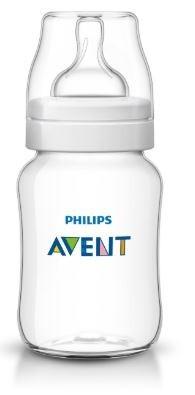 Mamadeira Philips Avent 260ml Clássica Transparente