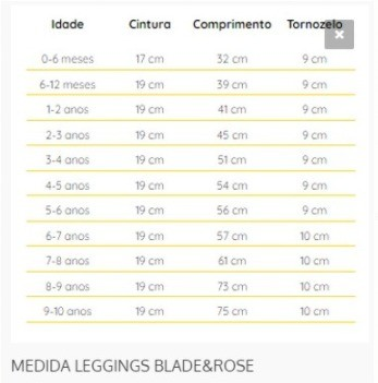 MEIA CALCA / LEGGING PIRATA 0 A 6 MESES