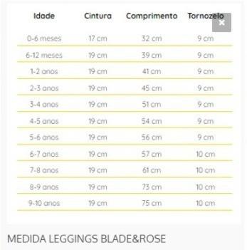 MEIA CALCA LEGGING TUBAR.O 0-6 M