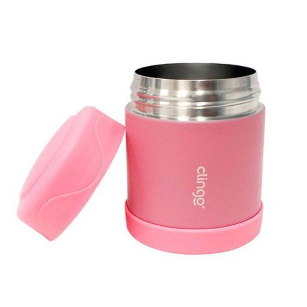 Pote Termico Rosa Clingo Para Alimento Quente e Frio 330ml