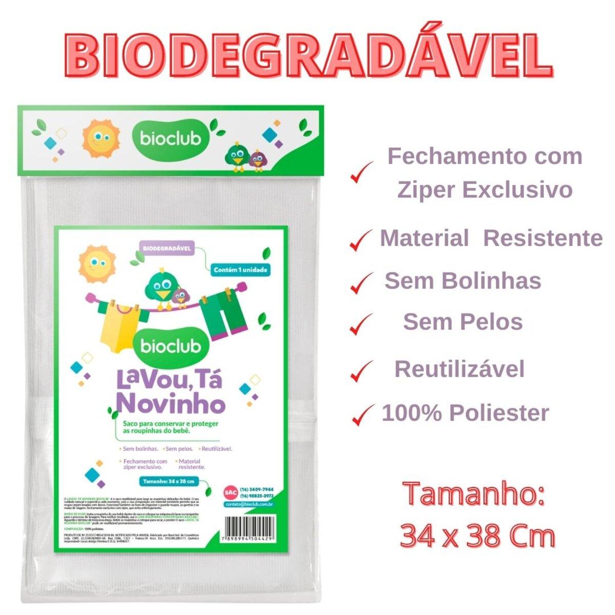 Saco de Lavar Roupas Delicadas Bebê BioClub Biodegradável