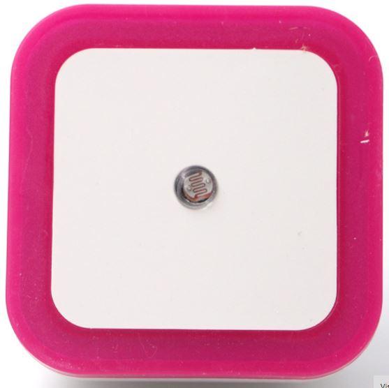 Sensor de Luz Noturna LED Rosa com Sensor Automático Inteligente Escuro