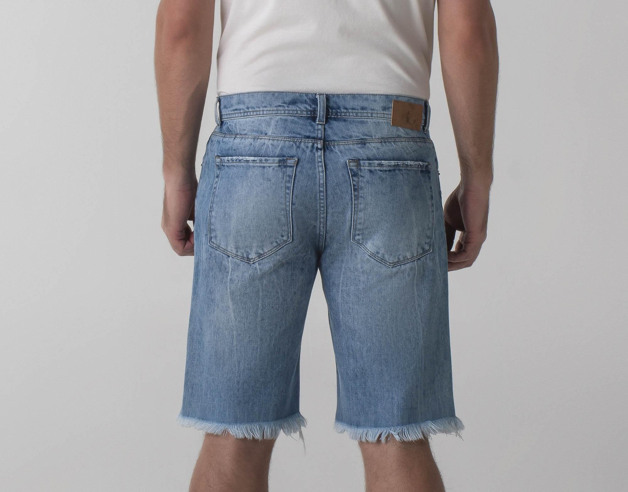 Bermuda jeans destroyed slim - Wave