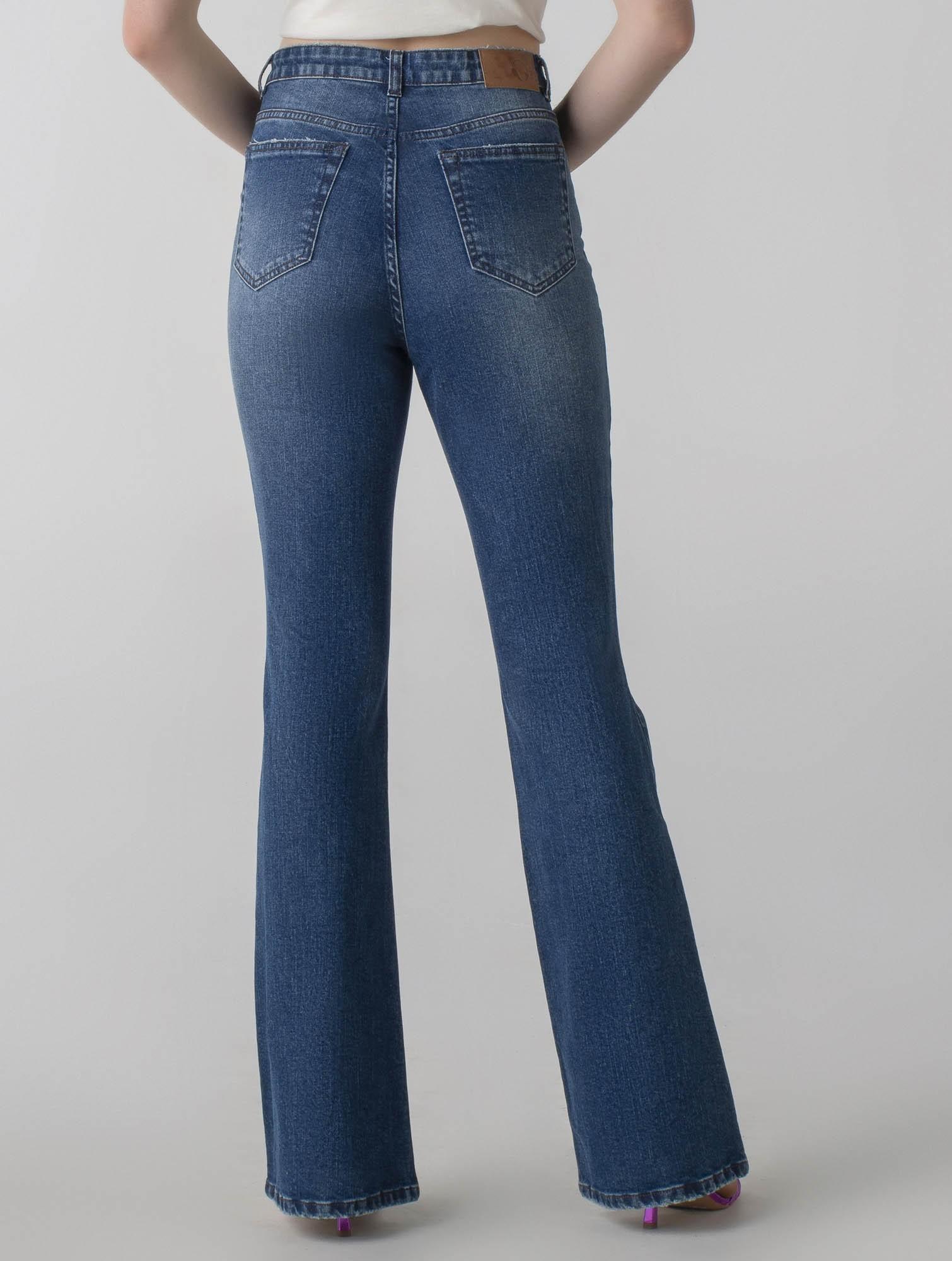 Calça jeans flare cós alto - Daily