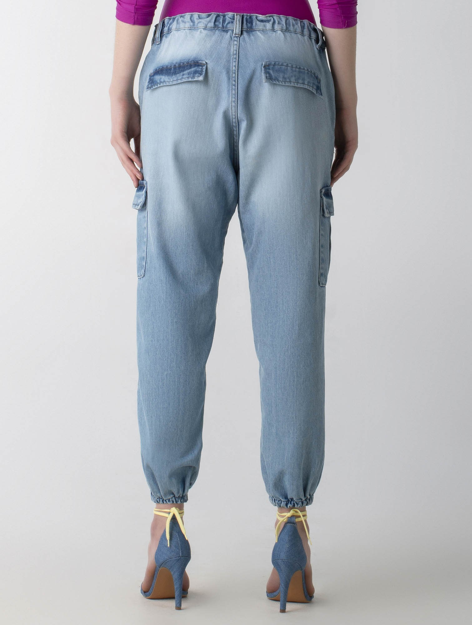Calça jeans jogger - Wave