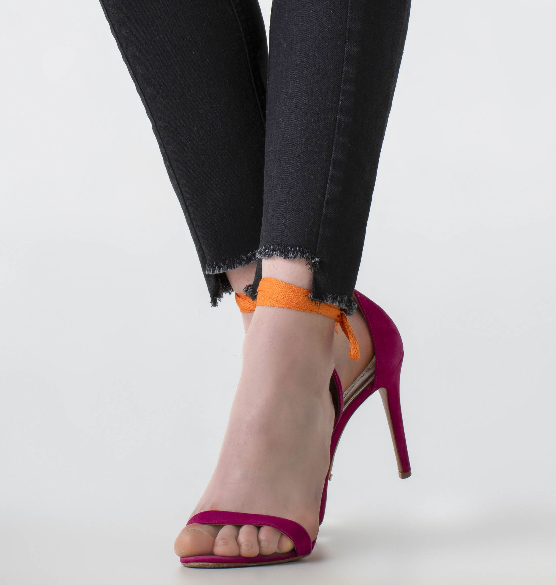 Calça jeans skinny cós médio com recorte - Wave
