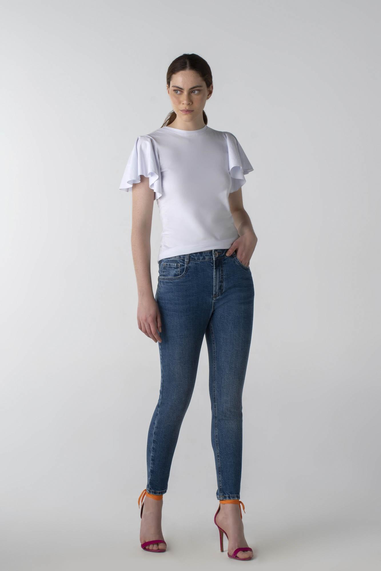 Calça jeans skinny cós médio - Daily