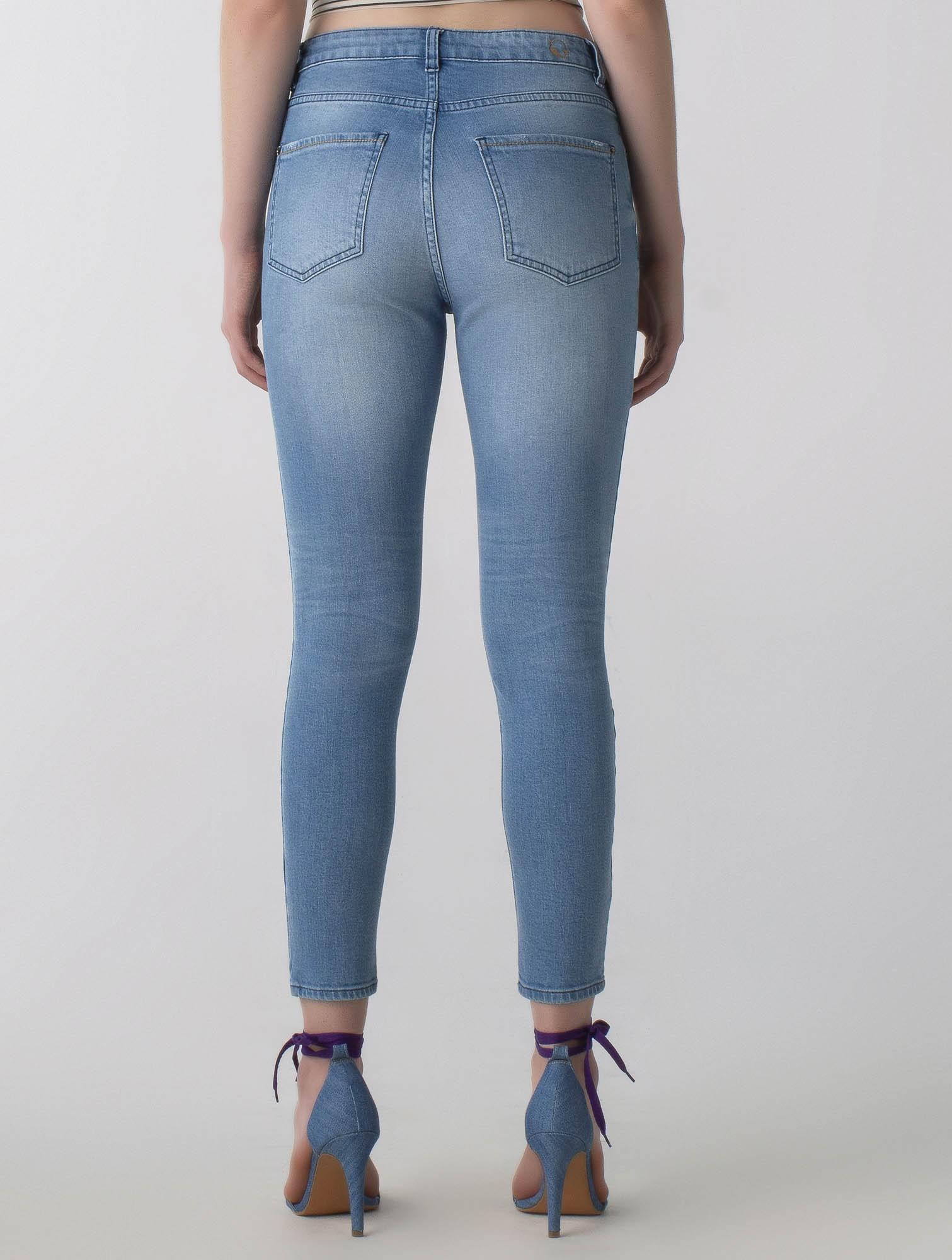 Calça jeans skinny cós médio - Wave