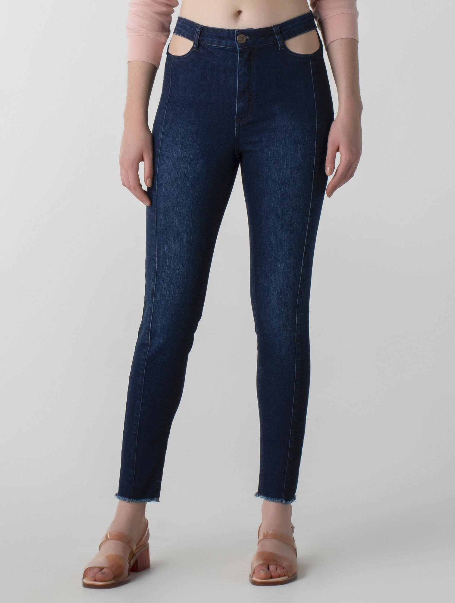 Calça jeans skinny push up - Wave