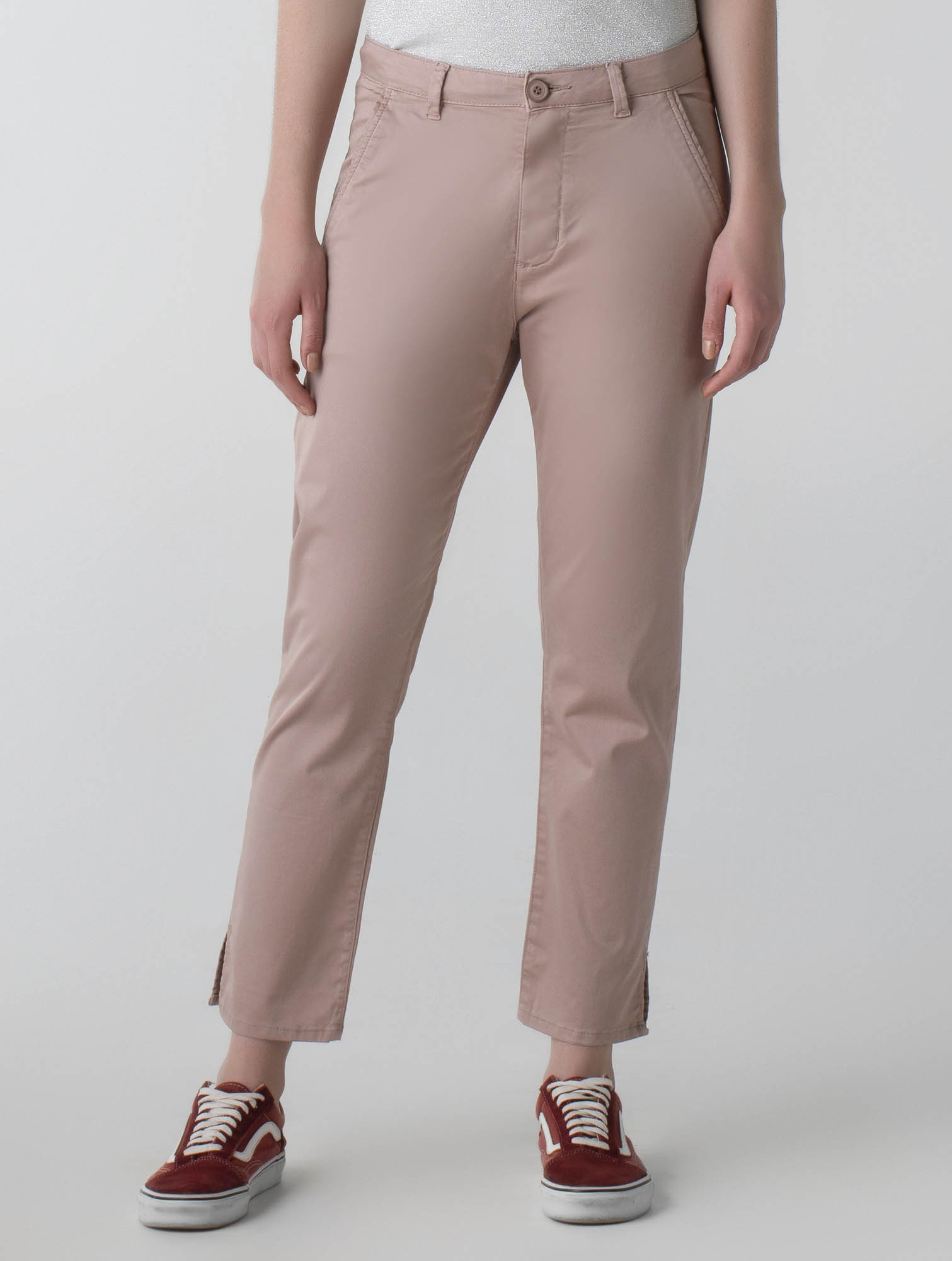 Calça sarja reta colors cós alto - Daily