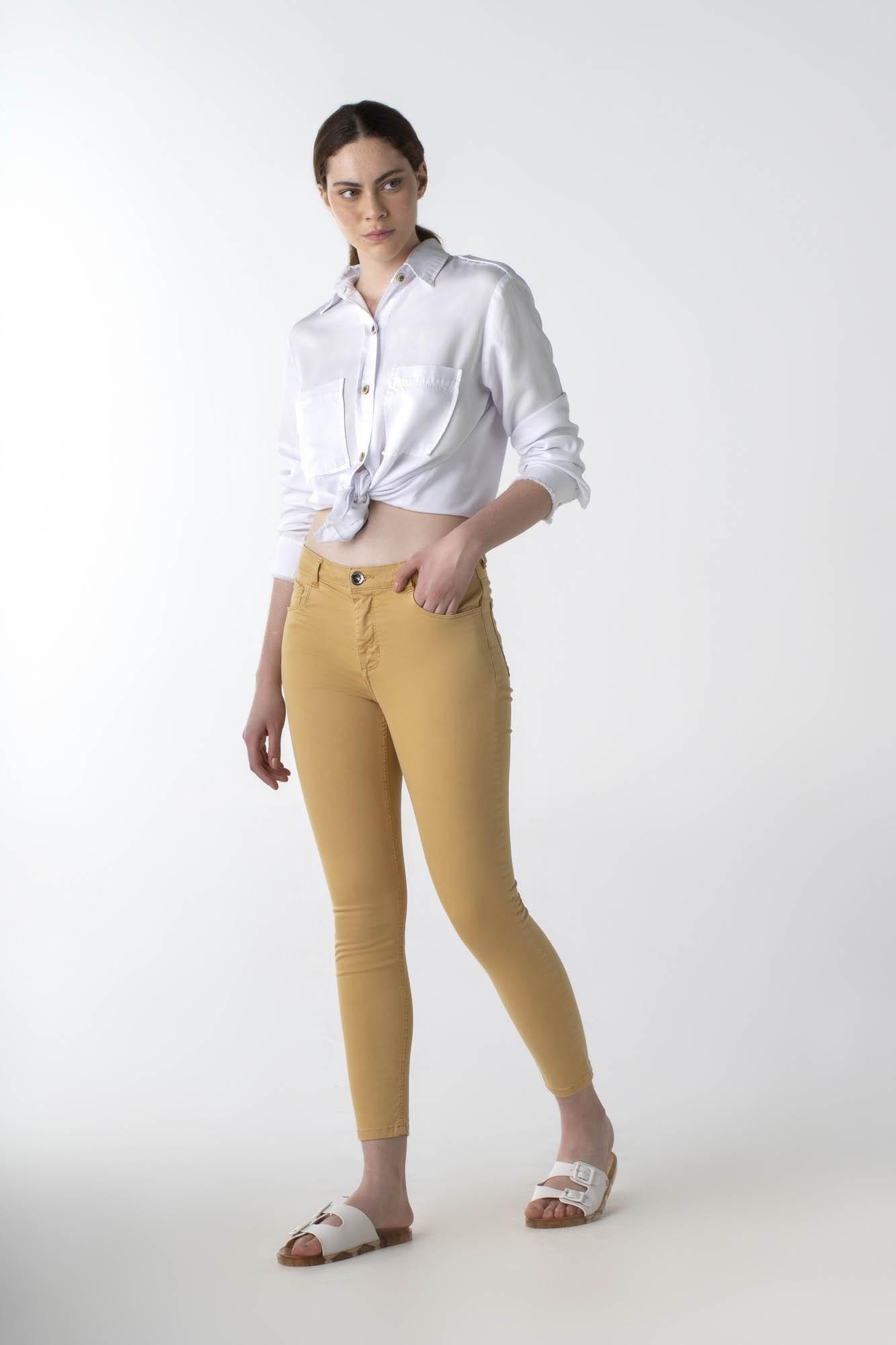 Calça sarja skinny colors cós médio - Daily