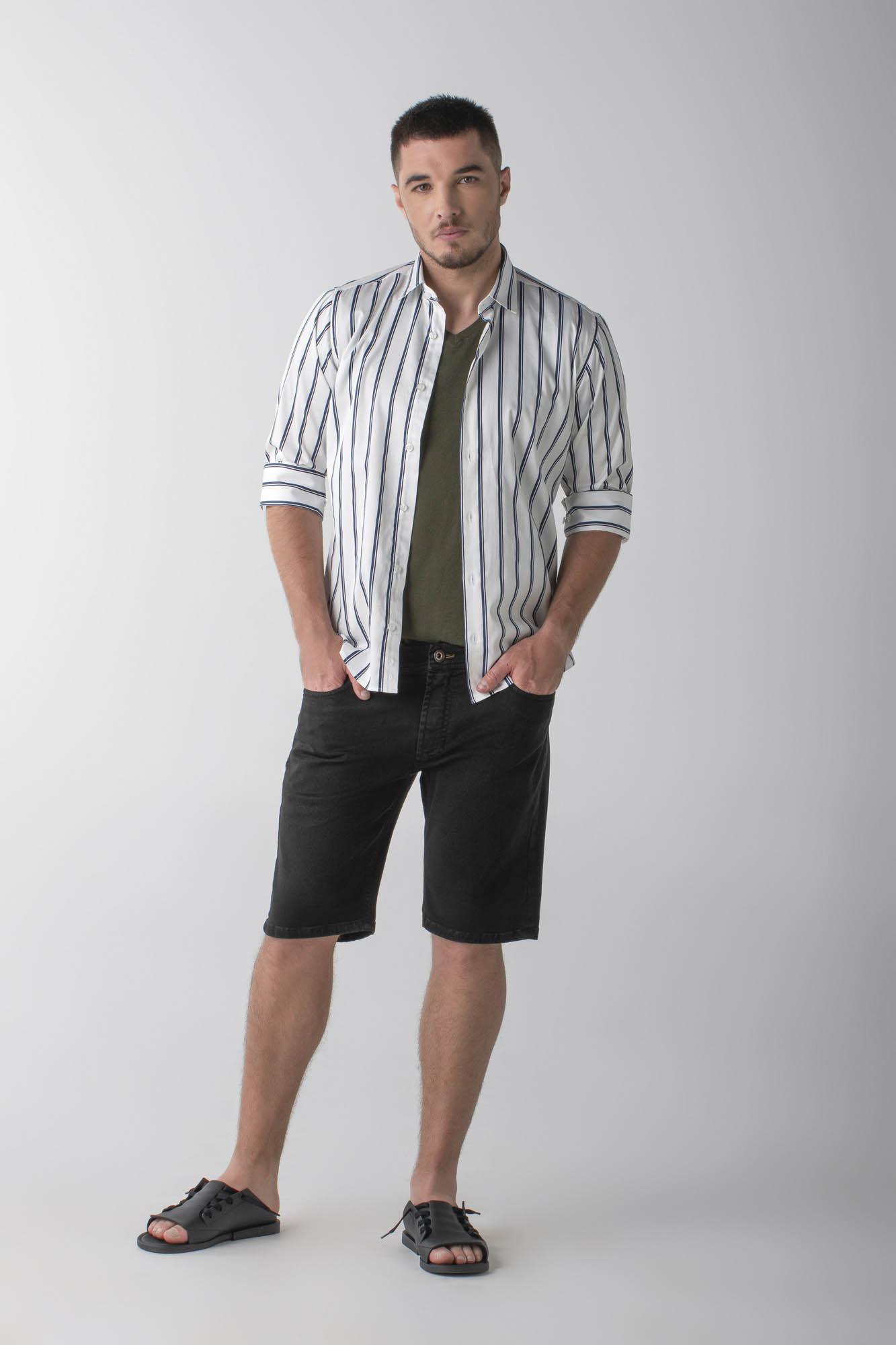 CÓPIA - Bermuda jeans black slim - Daily