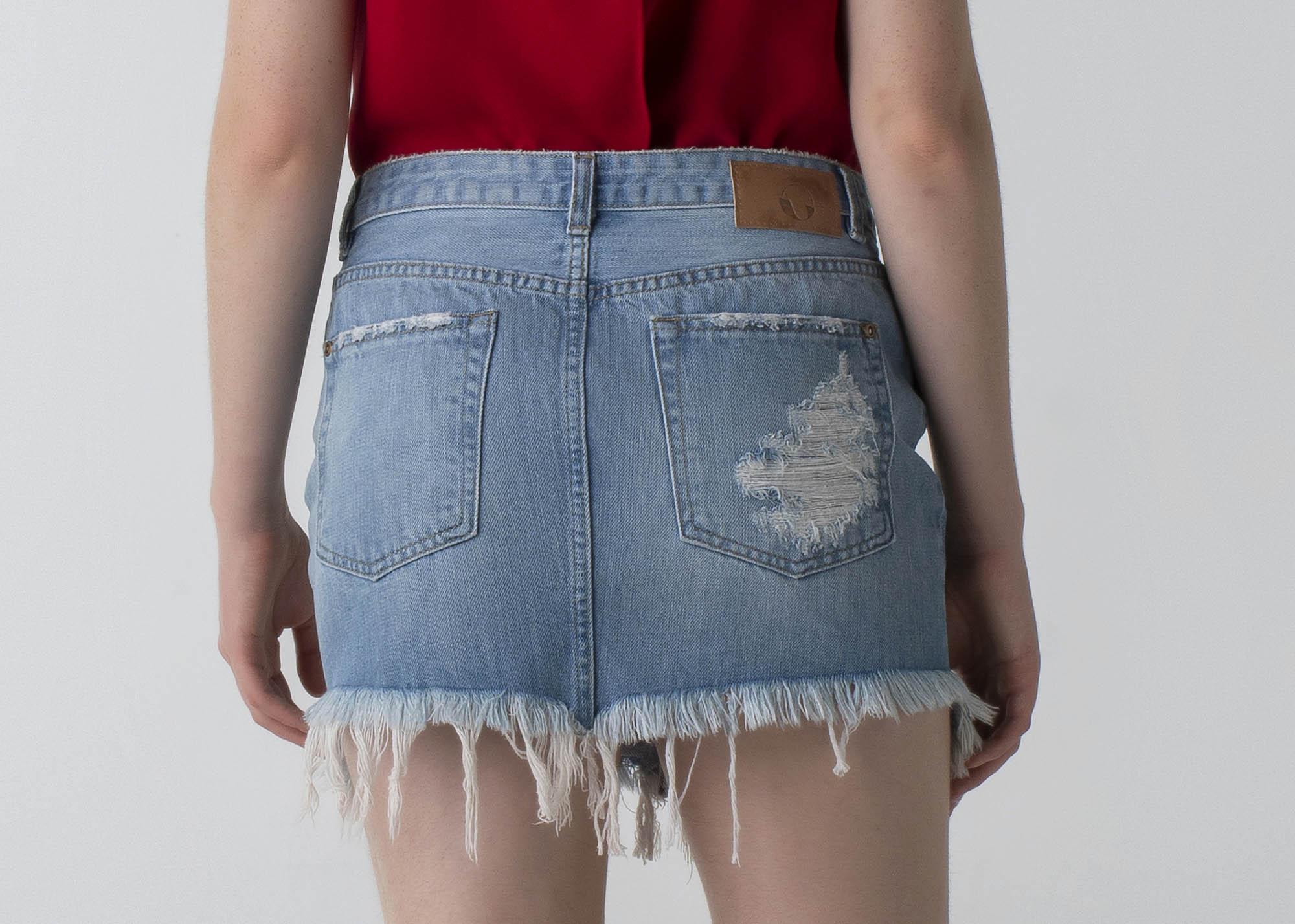 Saia jeans curta - Wave