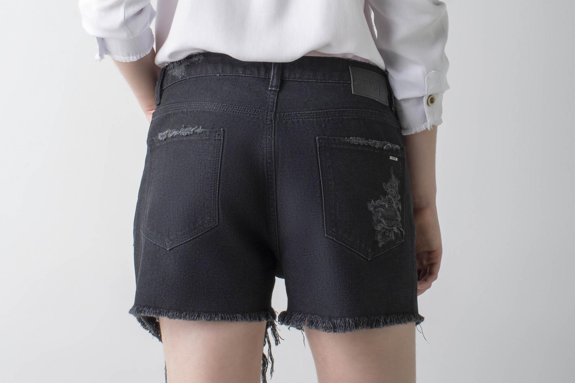 Shorts jeans black boyfriend - Wave