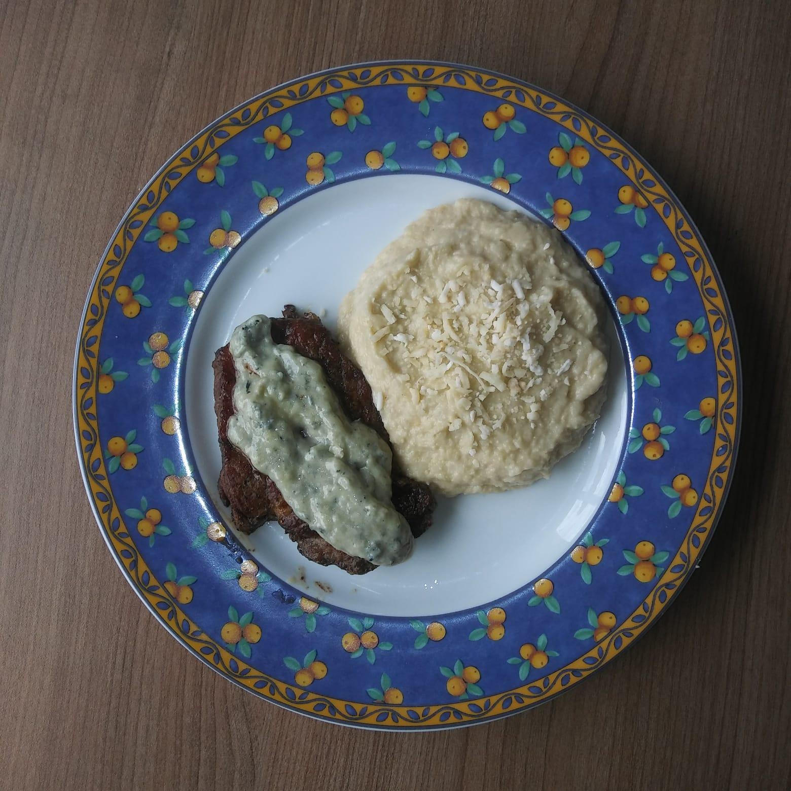 Contra Filet ao Molho com Risoto