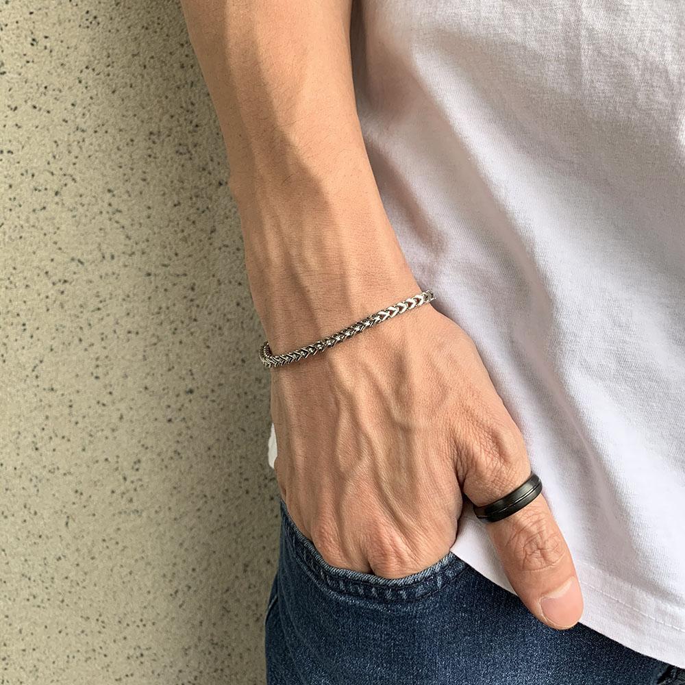 Pulseira Aço Cirúrgico Tressed 24-0024