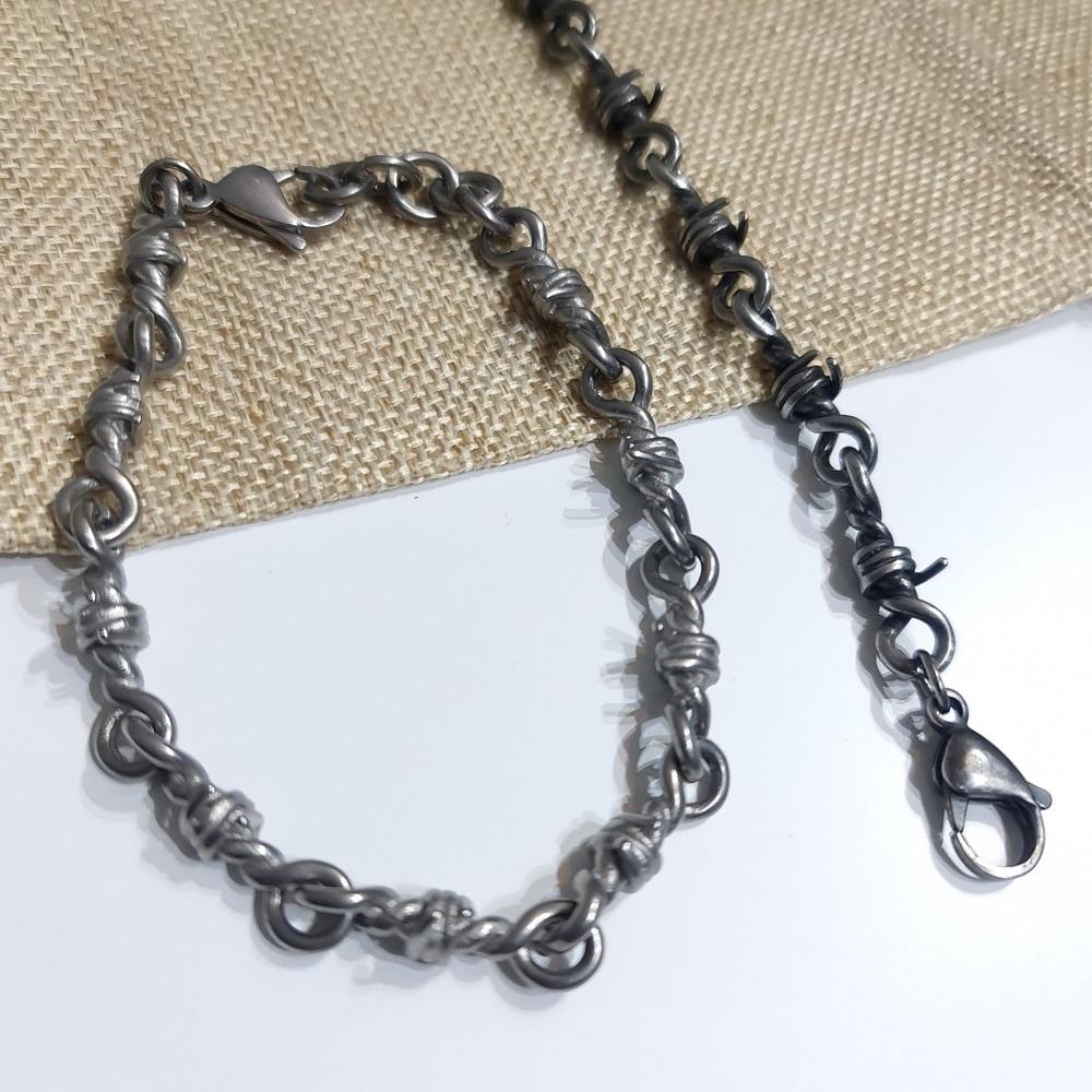 Pulseira Aço Cirúrgico Wire Knot 24-0026