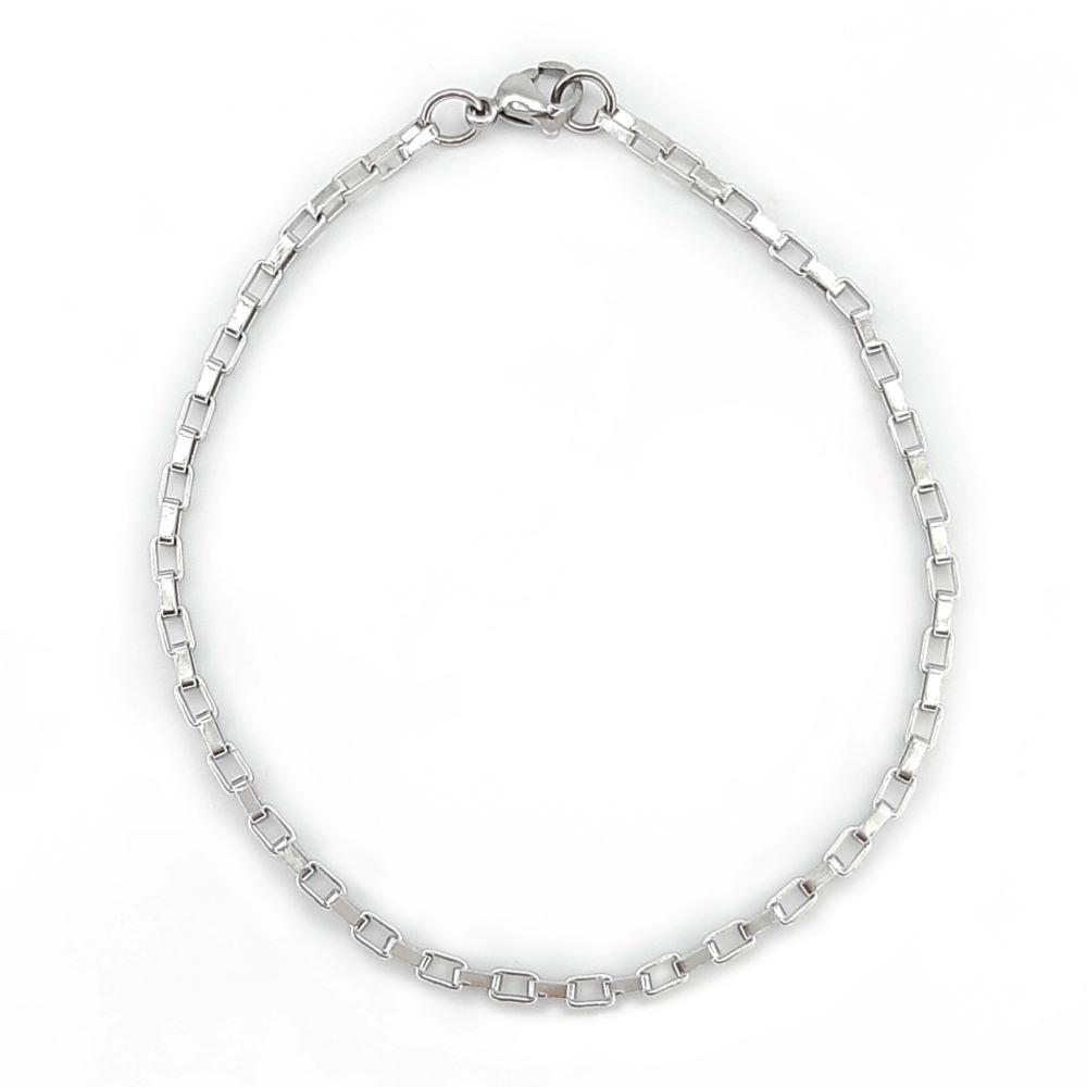 Pulseira de Aço Cirúrgico Cartier Quadrada 24-0095