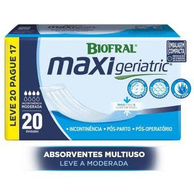 ABSORVENTE MAXI GERIATRIC UNISSEX KIT C/ 160 UN
