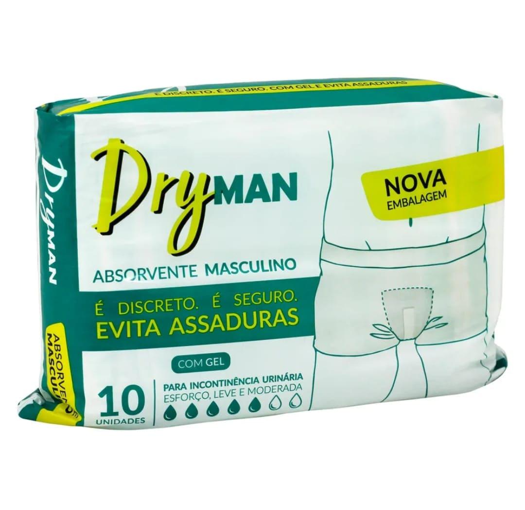 ABSORVENTE URINÁRIO MASCULINO DRYMAN C/ 10 UN