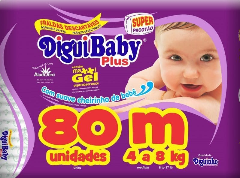 DIGUIBABY PLUS M C/ 80 UN