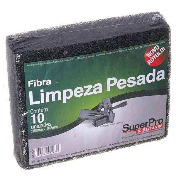 FIBRA DE LIMPEZA PESADA 10,2X26CM PACOTE C/ 10 UN