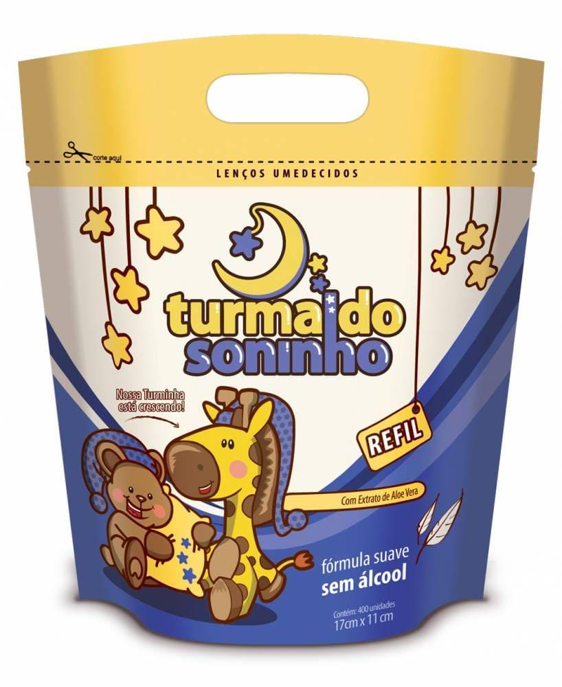 LENÇO UMEDECIDO TURMA DO SONINHO REFIL PARA BALDE C/ 400 UN