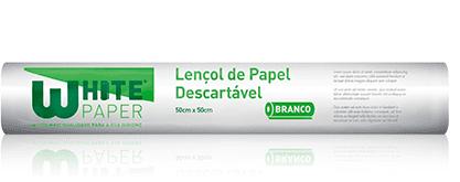 LENÇOL HOSP 70X50 WHITEPAPER BCO C/ 6 UN
