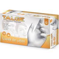 LUVA LATEX C/ PÓ TALGE CAIXA C/ 100 UN