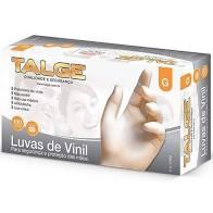 LUVA VINIL C/ PÓ TALGE CAIXA C/ 100 UN