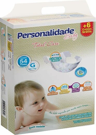 PERSONALIDADE BABY TOTAL CARE TAMANHO G C/ 48+6 UN