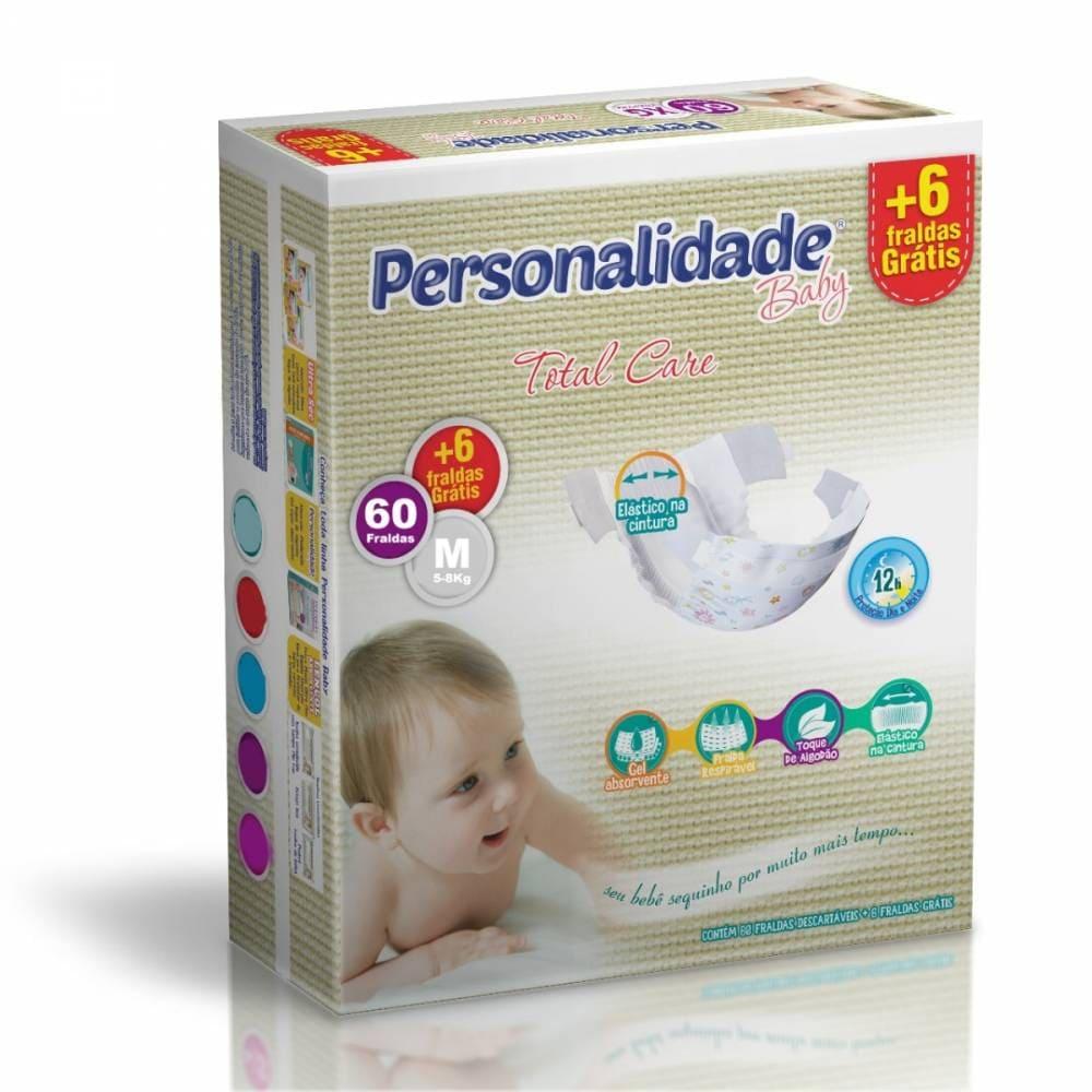 PERSONALIDADE BABY TOTAL CARE TAMANHO M C/ 54+6 UN
