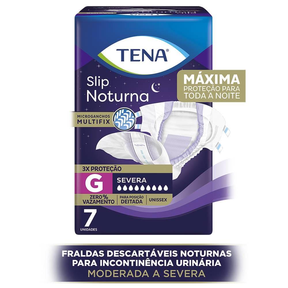 TENA SLIP NOTURNA G PACOTE C/ 7 UN