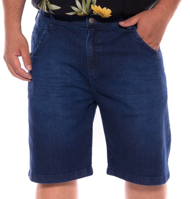 Bermuda plus size Jeans Stone