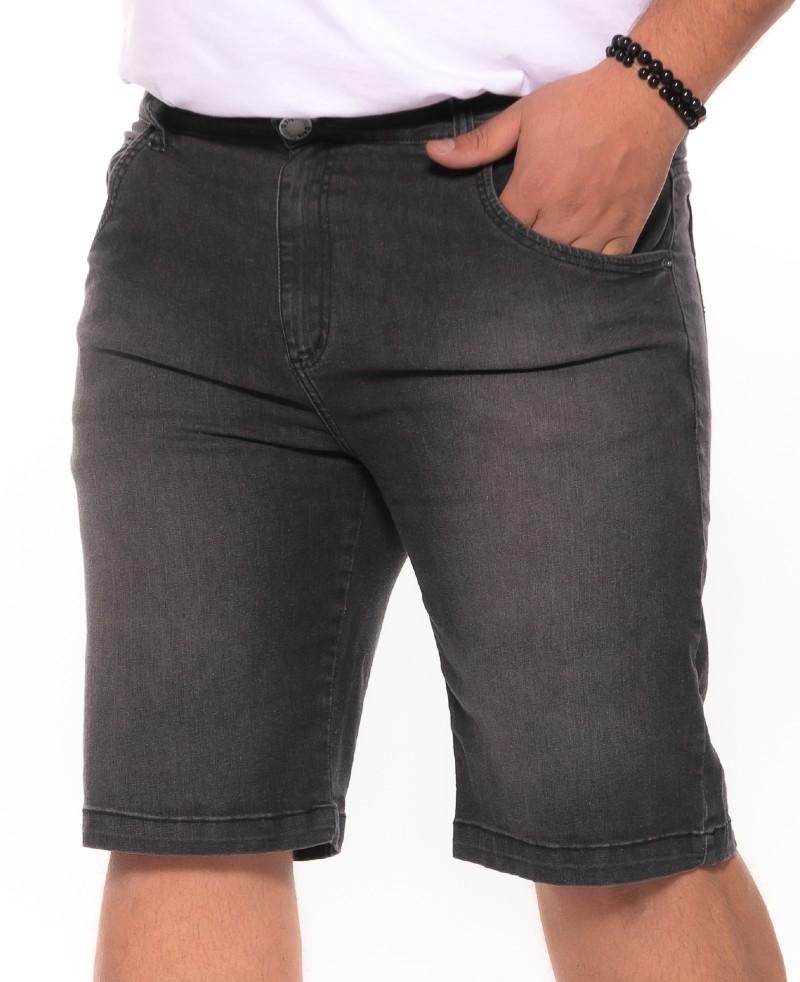 Bermuda plus size Jeans Used Preta
